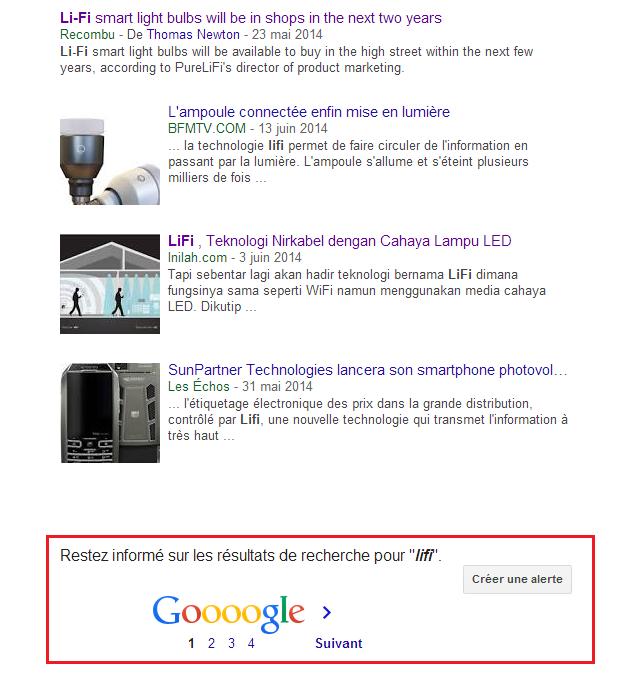 créer google alerte
